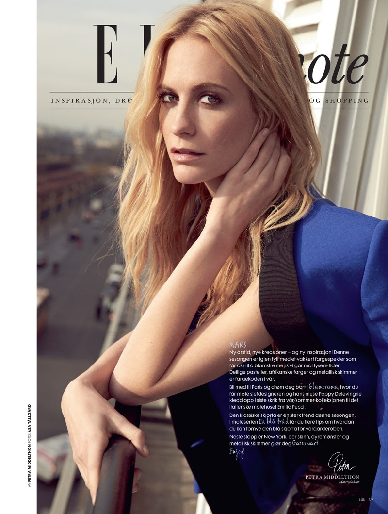 poppy delevingne emilio pucci11 Poppy Delevingne Gets Pucci Glam for Elle Norway by Asa Tallgard