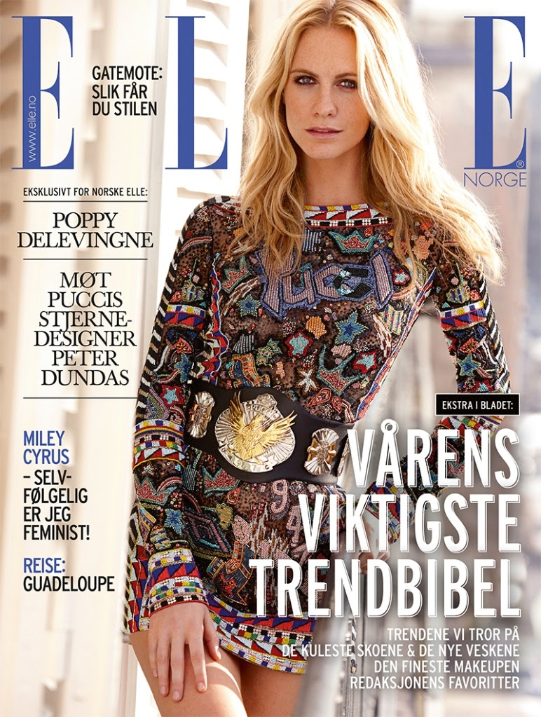 Poppy Delevingne Gets Pucci Glam for Elle Norway by Asa Tallgard