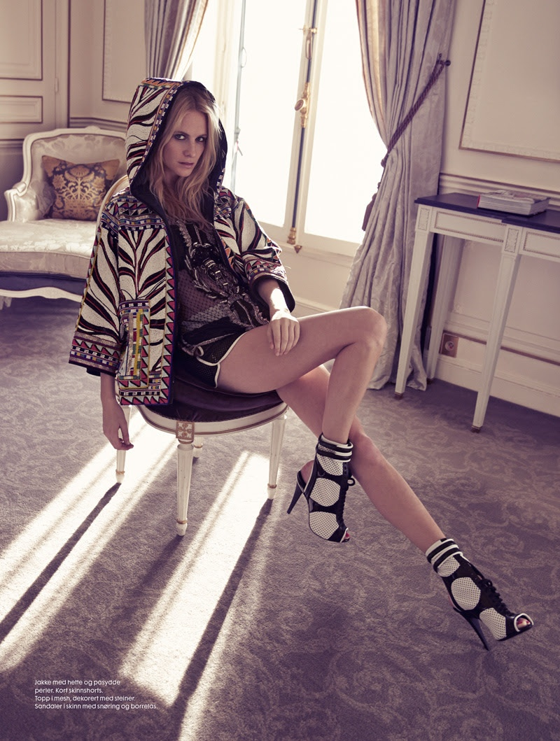 poppy delevingne emilio pucci2 Poppy Delevingne Gets Pucci Glam for Elle Norway by Asa Tallgard