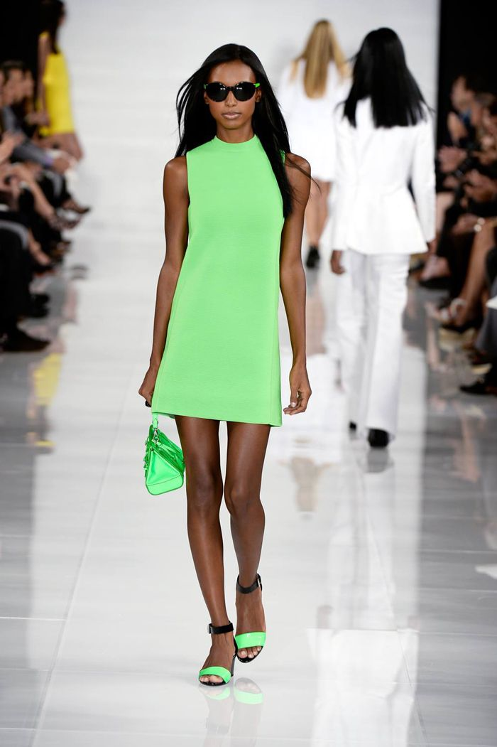Jasmine Tookes walks Ralph Lauren spring 2014 show at New York Fashion Week / Courtesy Pinterest
