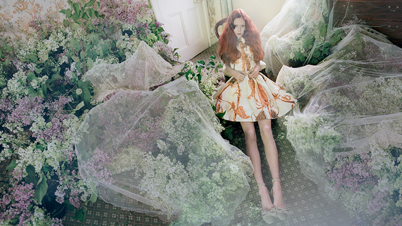 Natalie Westling Enchants in RED Valentino's Spring 2014 Campaign