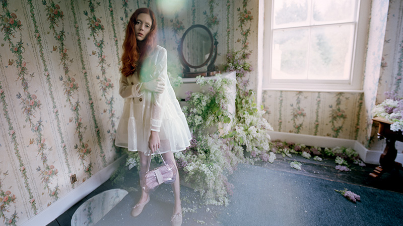 red valentino spring 2014 campaign2 Natalie Westling Enchants in RED Valentinos Spring 2014 Campaign