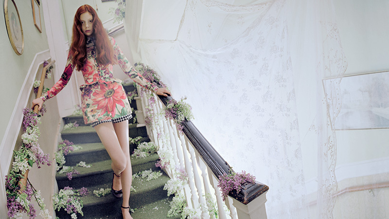 red valentino spring 2014 campaign3 Natalie Westling Enchants in RED Valentinos Spring 2014 Campaign