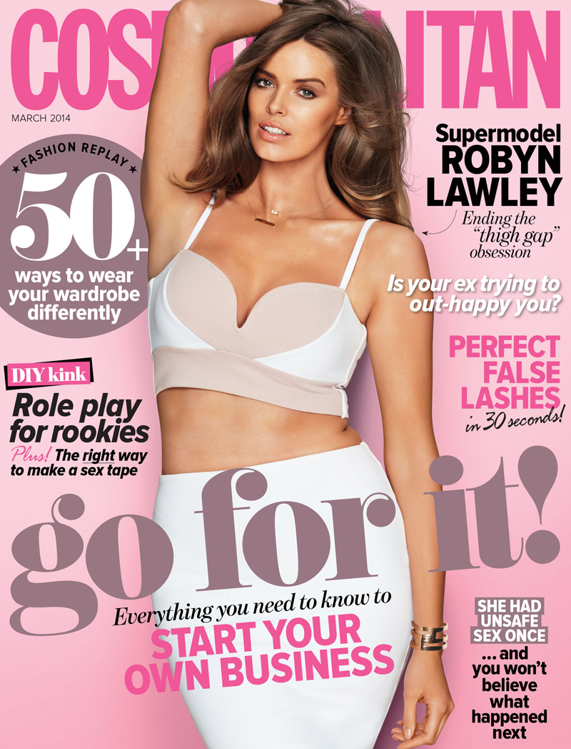 robyn lawley cosmo australia cover Crop Tops: From the Runway to Real Life