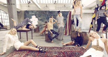 Aline Weber Multiplies for Sass & Bide's Spring 2014 Campaign