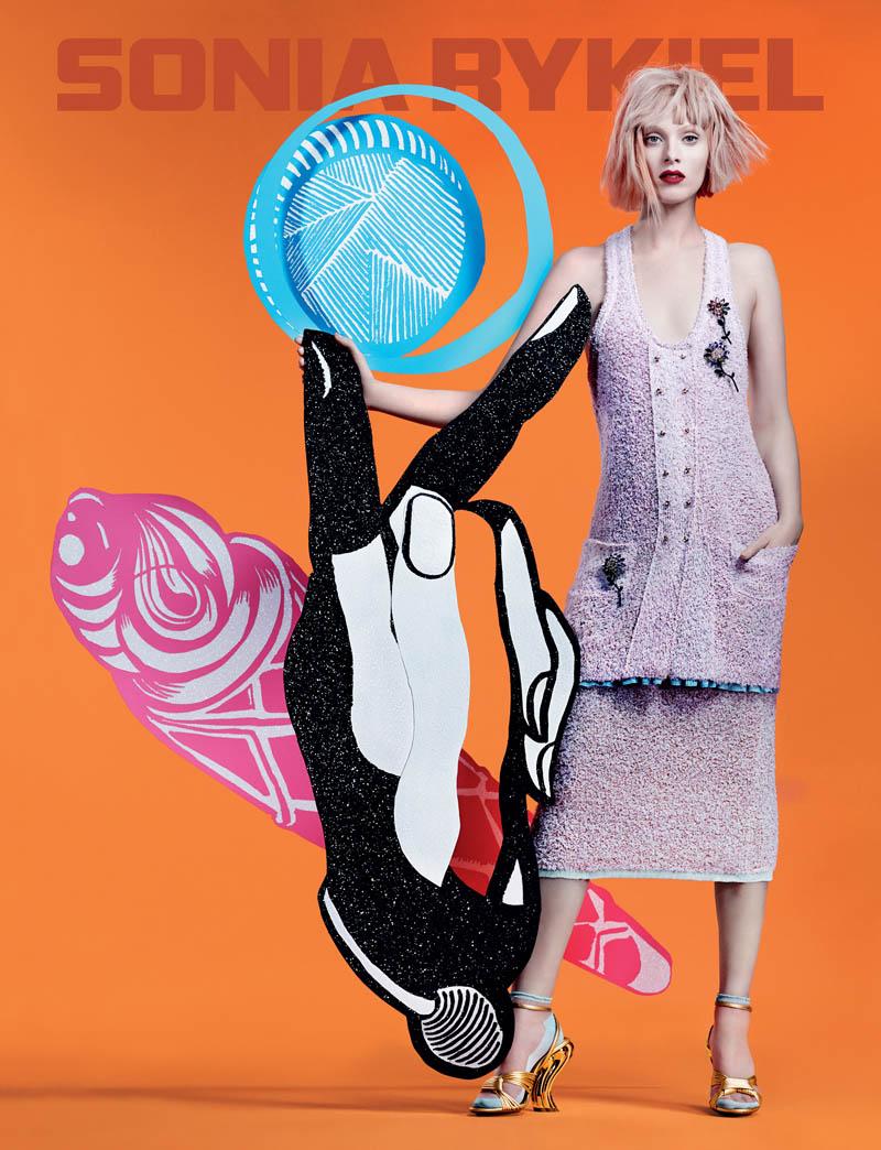 sonia rykiel spring 2014 campaign2 Karen Elson Gets Colorful for Sonia Rykiel Spring/Summer 2014 Campaign