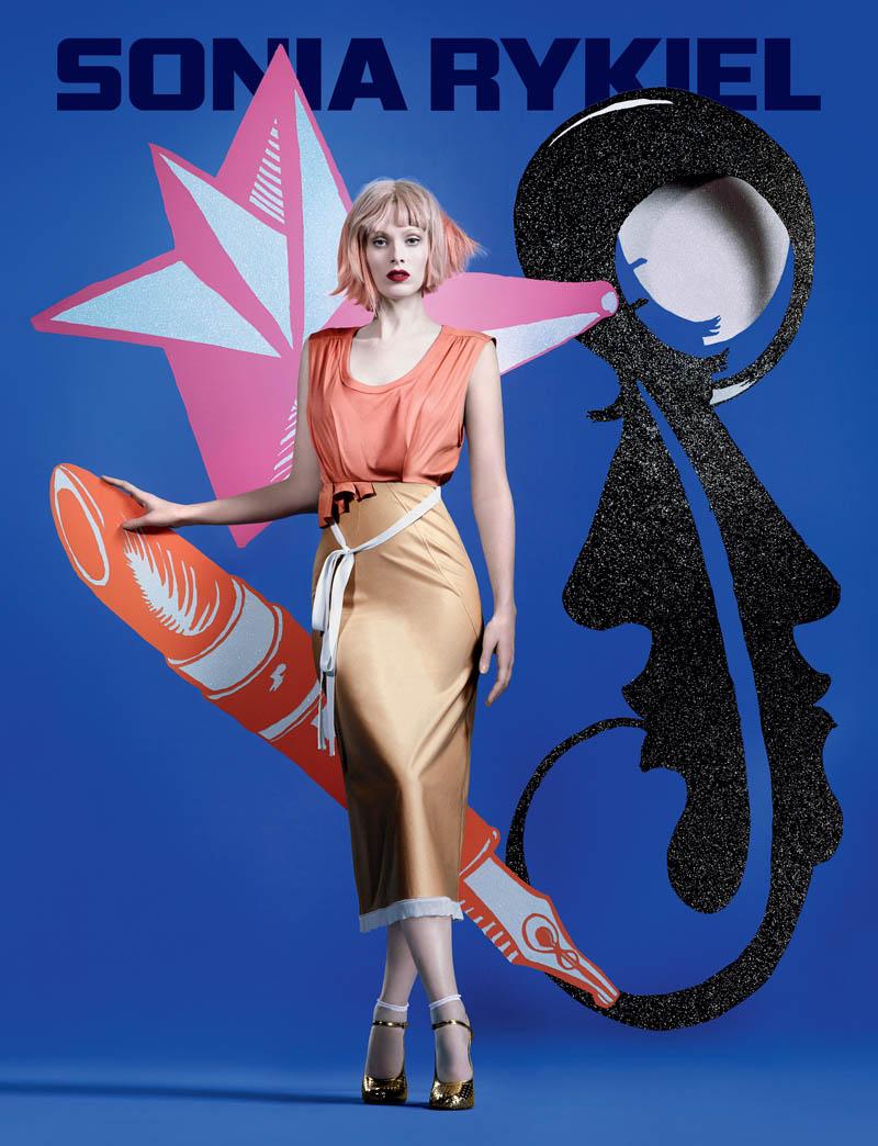 sonia rykiel spring 2014 campaign3 Karen Elson Gets Colorful for Sonia Rykiel Spring/Summer 2014 Campaign