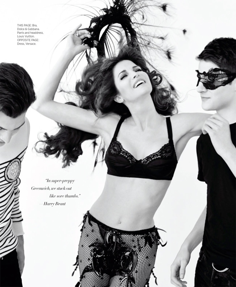 stephanie seymour sons photos4 Stephanie Seymour & Sons Pose in Photo Shoot for Harpers Bazaar