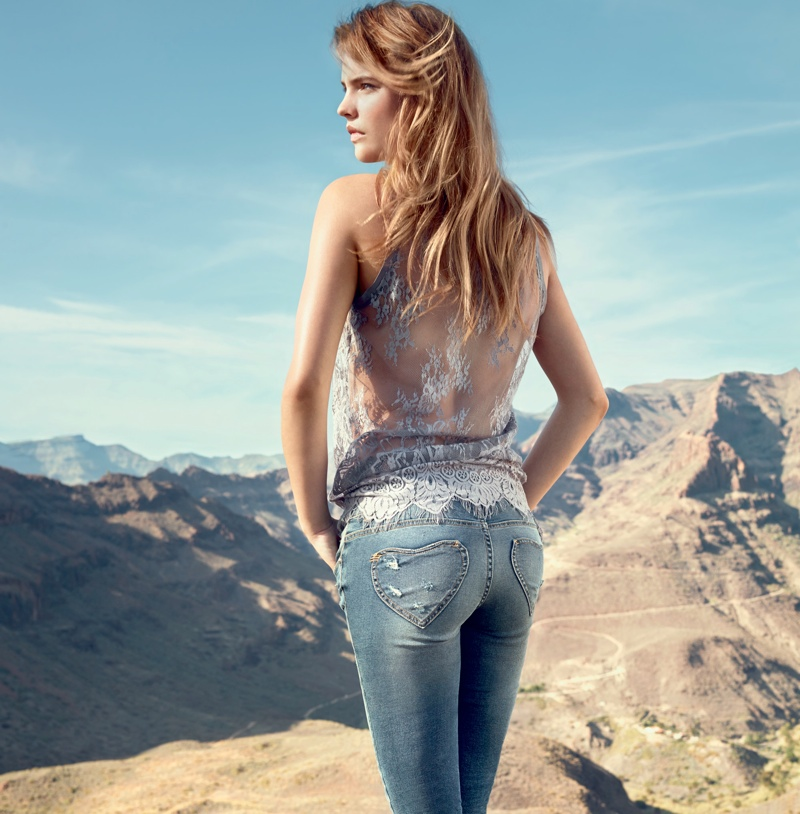 twin set jeans spring 20145 Barbara Palvin is a Denim Babe in Twin Set Jeans Spring 2014 Ads