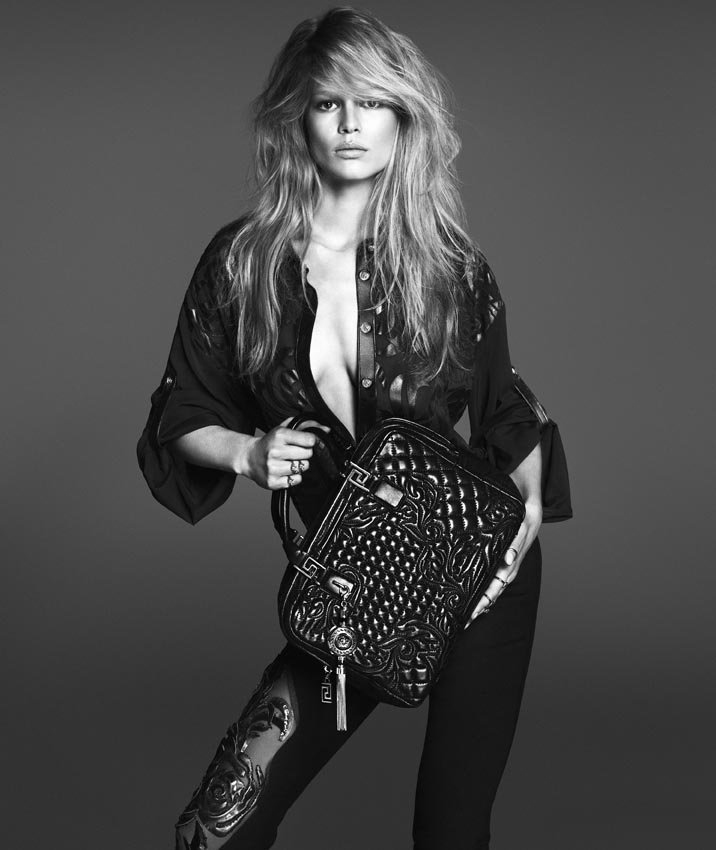 versace woman anna ewers1 Anna Ewers Poses for Versace Spring 2014 Woman Campaign