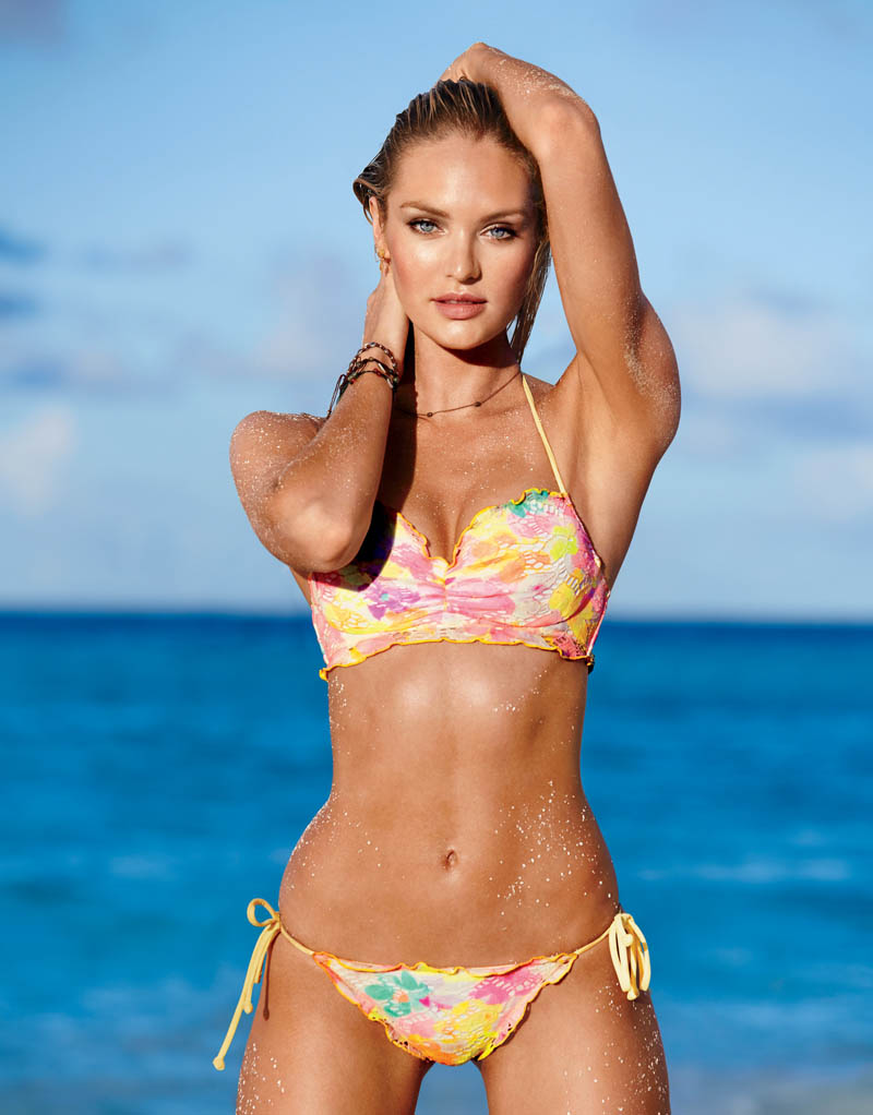 6b0c8536a26a3 Candice Swanepoel Leads the Pack for Victoria s Secret Swim in St. Barth s