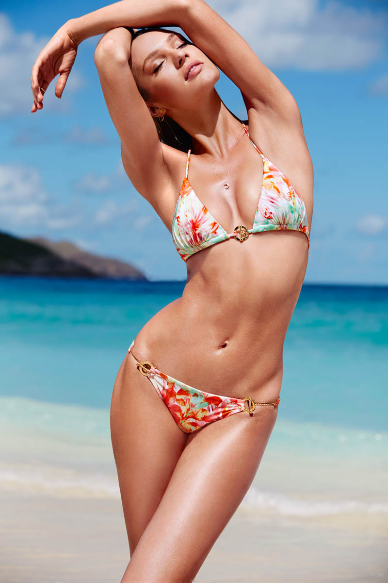 victorias secret swim 201411 Candice Swanepoel Leads the Pack for Victorias  Secret Swim in St. Barths