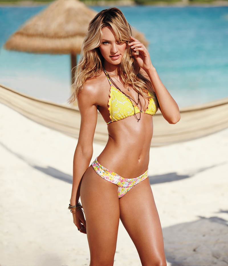 Candice Swanepoel Leads the Pack for Victoria's  Secret Swim in St. Barth's