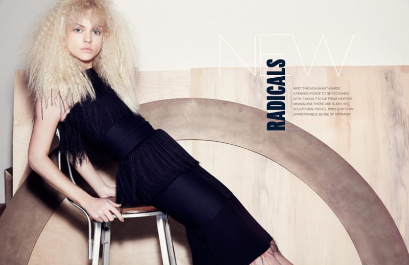 viktoriya marcus ohlsson1 800x518 Viktoriya Sasonkina Gets Radical for Elle UK by Marcus Ohlsson