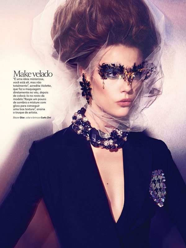 Martha Streck is a Carnival Beauty for Vogue Brazil by Pulmanns