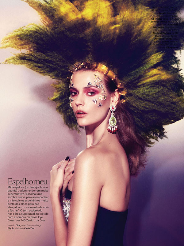 vogue brazil carnival beauty5 Martha Streck is a Carnival Beauty for Vogue Brazil by Pulmanns