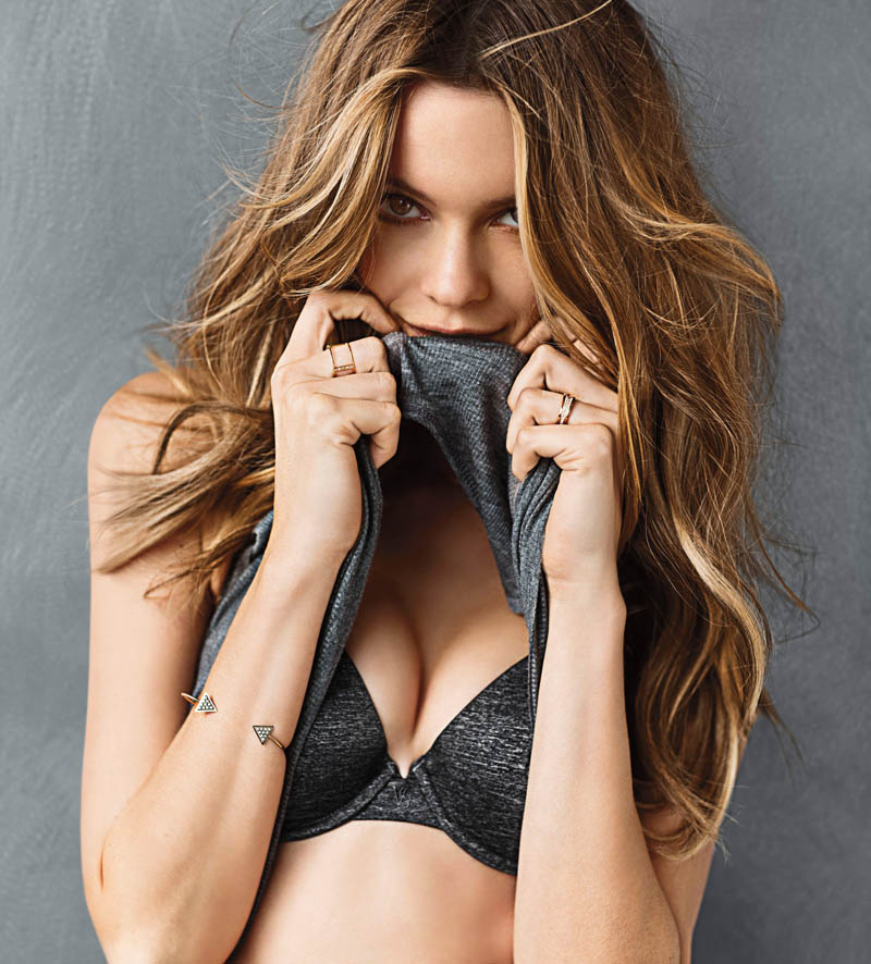 vs t shirt bra1 Behati Prinsloo Models the T Shirt Bra for Victorias Secret