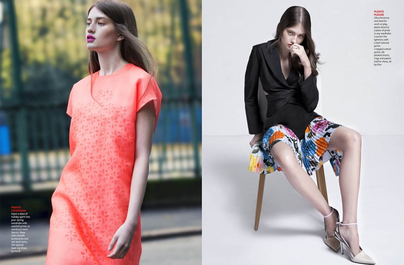 Alicia Davis Models Spring Style for Tatler Hong Kong by Iakovos Kalaitzakis