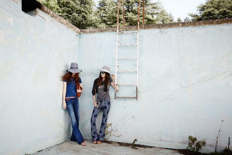 zara trf spring 2014 campaign1 Marine Deleeuew & Magdalena Jasek Pose for Zara TRF Spring/Summer 2014 Campaign