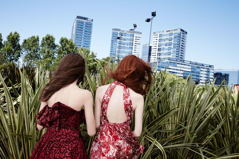 zara trf spring 2014 campaign6 Marine Deleeuew & Magdalena Jasek Pose for Zara TRF Spring/Summer 2014 Campaign