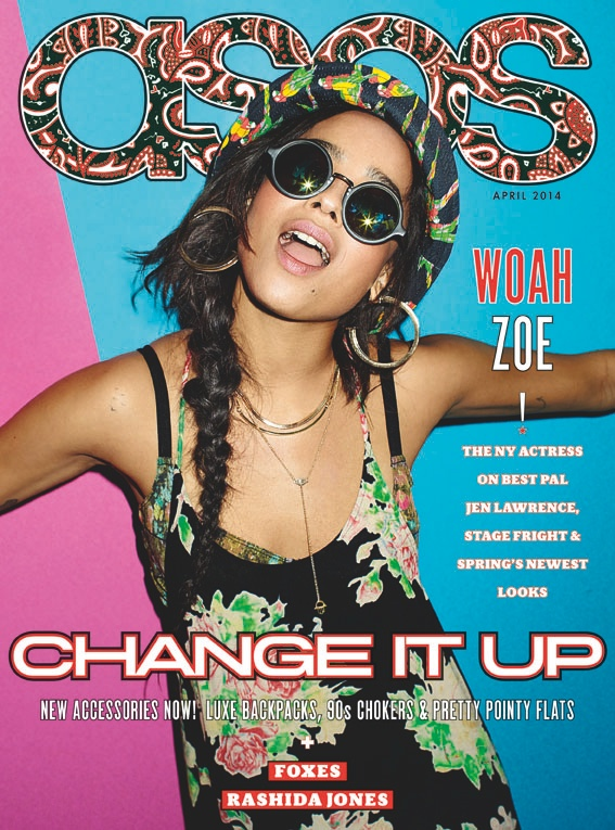 zoe kravitz asos 20141 Zoe Kravitz Covers ASOS Magazine, Talks Jennifer Lawrence & Love for 90s Style
