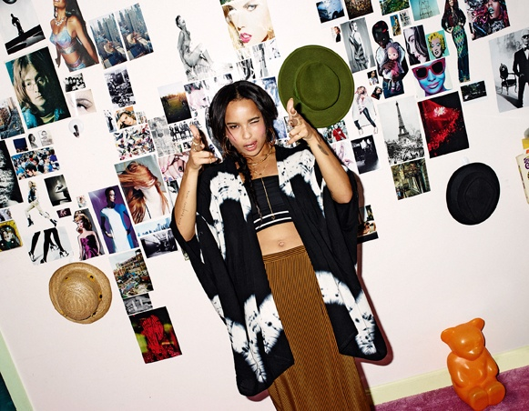 zoe kravitz asos 20146 Zoe Kravitz Covers ASOS Magazine, Talks Jennifer Lawrence & Love for 90s Style
