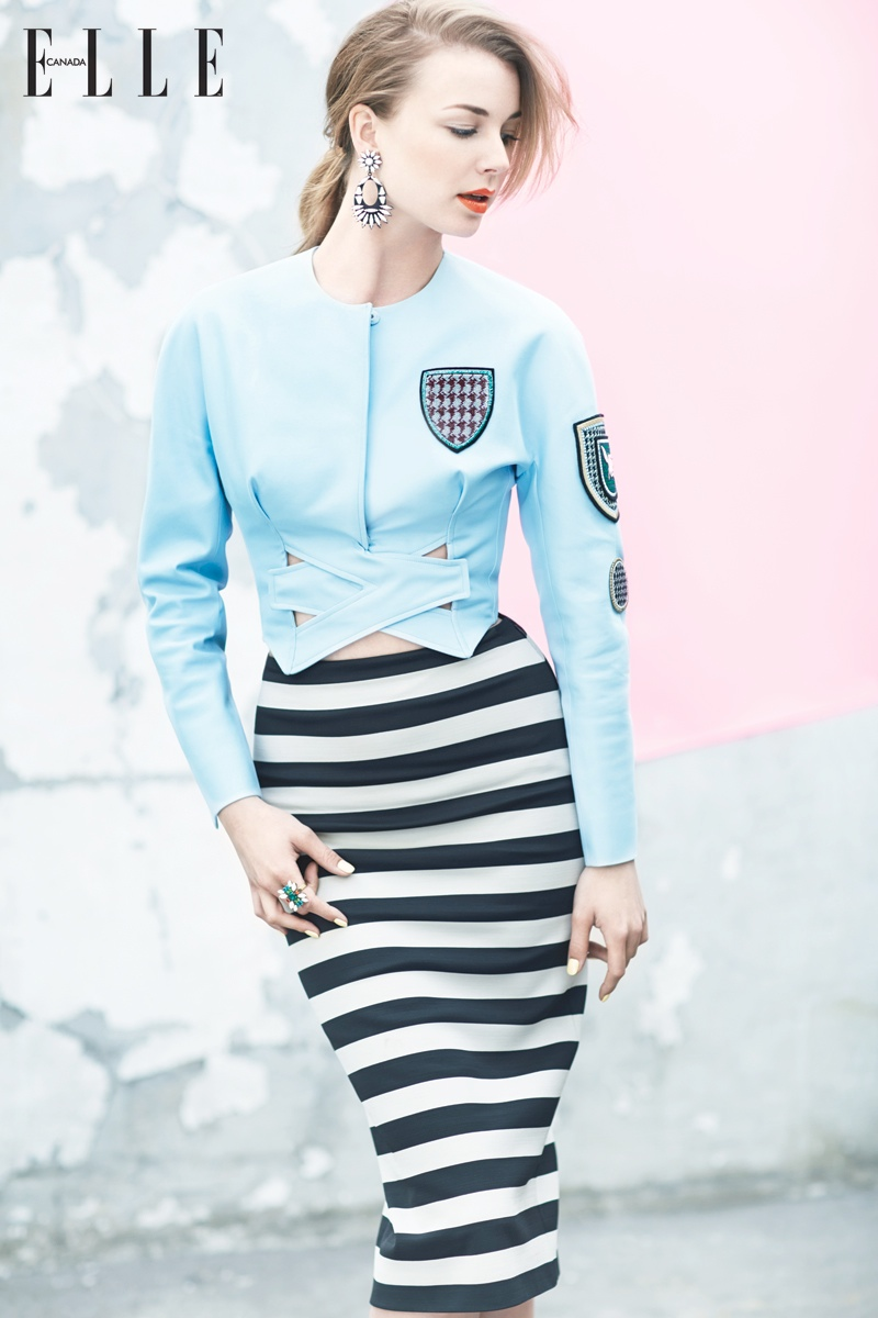 Emily Vancamp Elle Canada3 Emily VanCamp  is Pretty in Pastels for Elle Canada Shoot