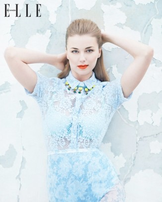 Emily Vancamp Elle Canada4 326x406 H&M Debuts First Wedding Dress at Just $100