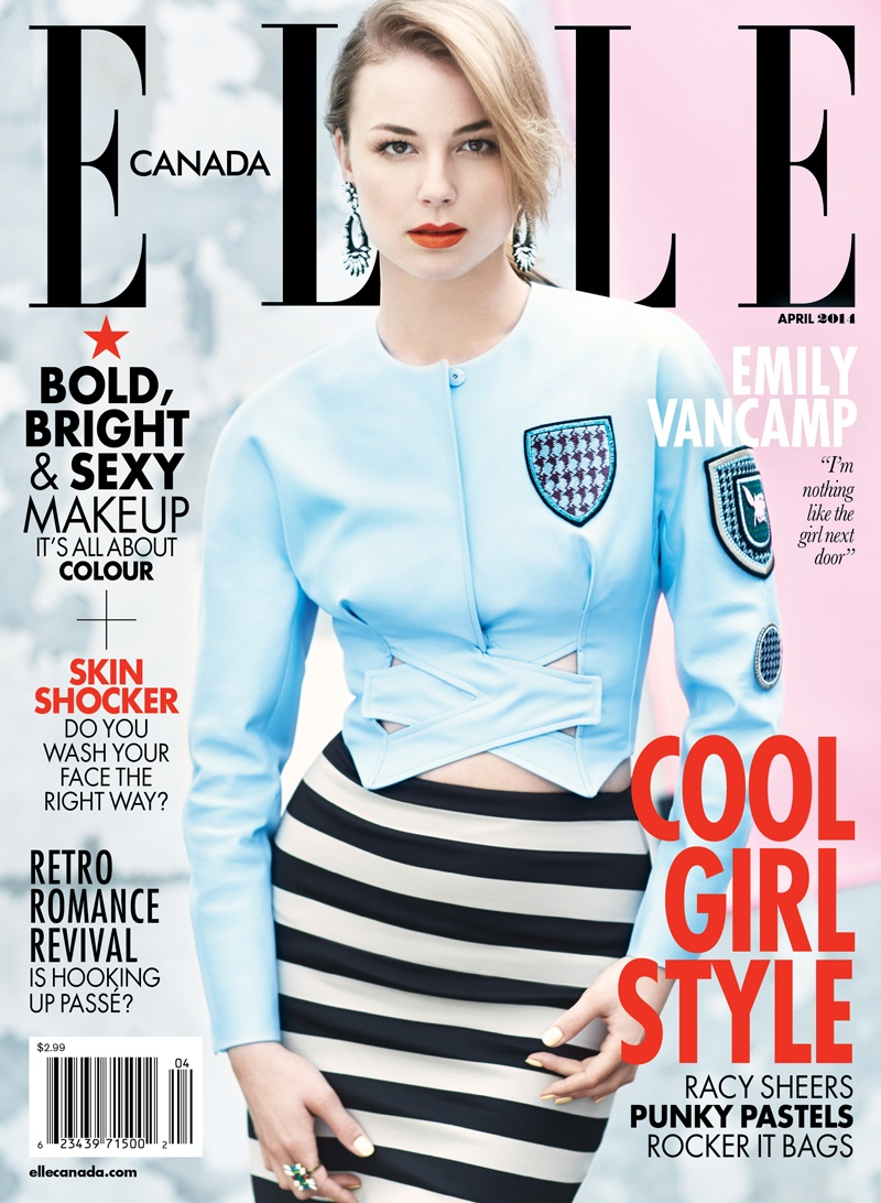 Emily Vancamp Elle Canada6 Emily VanCamp  is Pretty in Pastels for Elle Canada Shoot