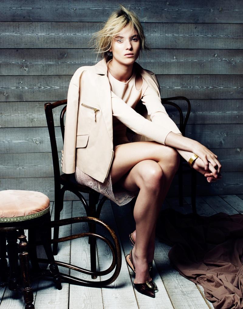 Estee Rammant5 Estee Rammant Models Nude Style for Gianluca Fontana in Elle France