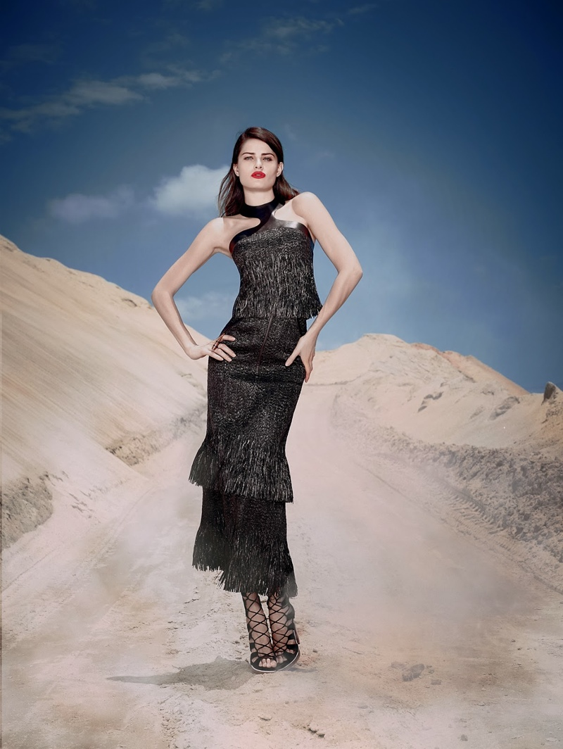 Tufi Duek Isabeli Fontana Winter 2014 1 Isabeli Fontana is a Desert Queen in Tufi Dueks Winter 2014 Ads