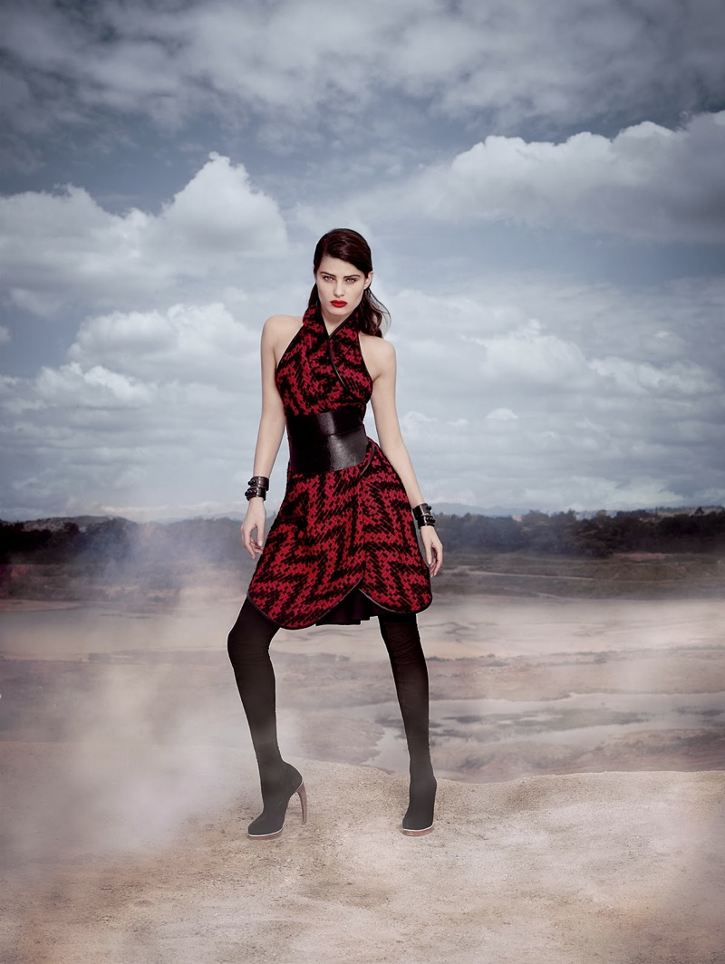 Tufi Duek Isabeli Fontana Winter 2014 6 Isabeli Fontana is a Desert Queen in Tufi Dueks Winter 2014 Ads