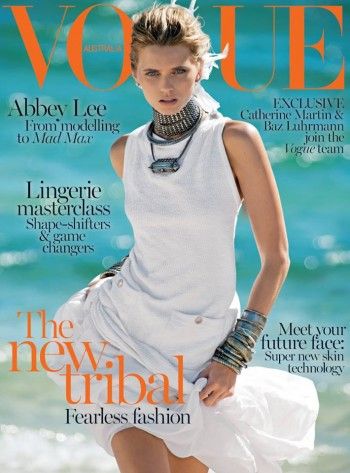 Abbey Lee Kershaw is Tribal Chic in Chanel for Vogue Australia's April Cover