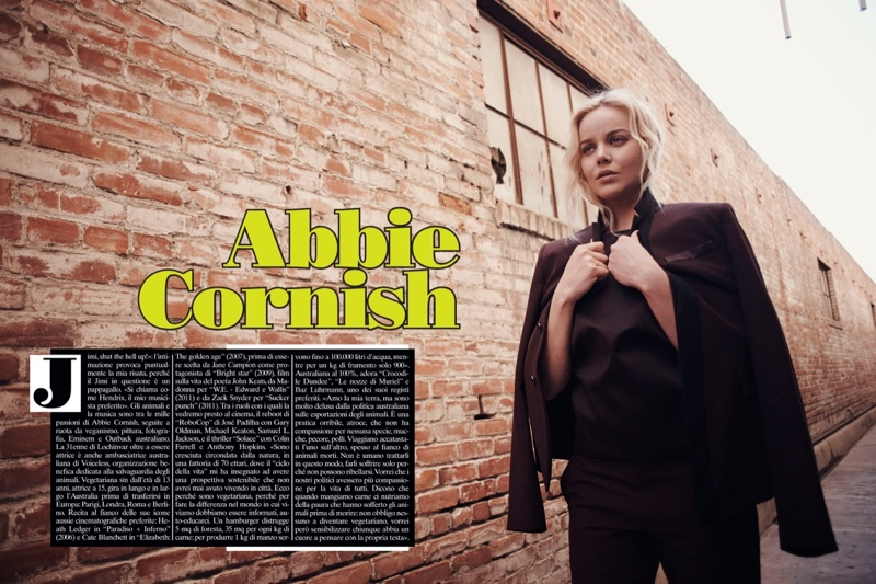 abbie cornish 2014 7 Abbie Cornish Keeps it Low Key for Eric Guillemain in LUomo Vogue