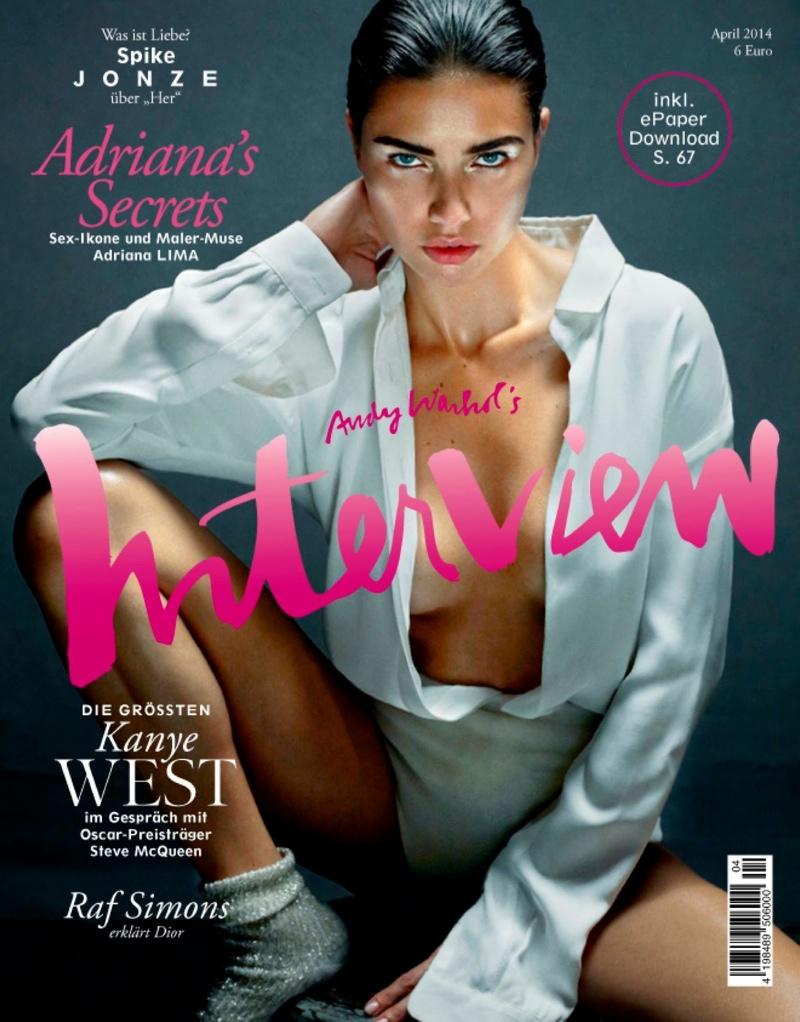 adriana lima robbie fimmano10 Adriana Lima Makes Minimalism Sexy in Interview Germany Feature