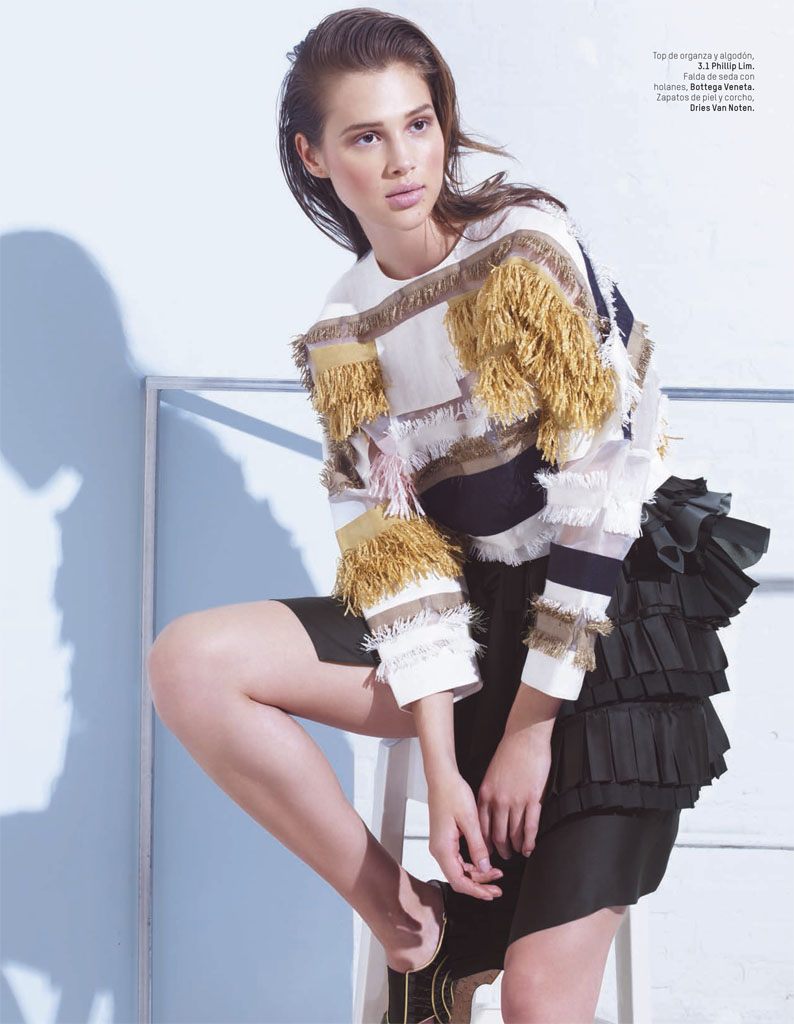Anais Pouliot Stars in Debut Issue of L'Officiel Mexico by Andrew Yee