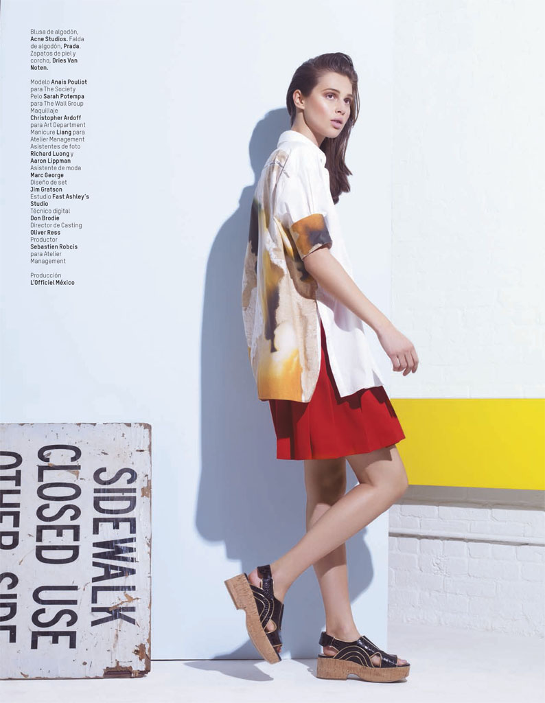 anais lofficiel mexico8 Anais Pouliot Stars in Debut Issue of LOfficiel Mexico by Andrew Yee