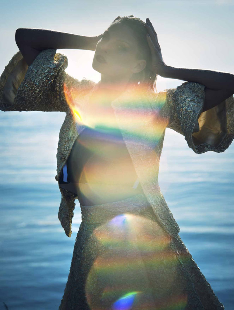 Angela Lindvall Has the Siren Call for L'Officiel Netherlands Shoot