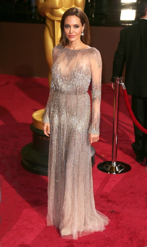 angelina jolie elie saab oscars 2014 Oscars Red Carpet Looks