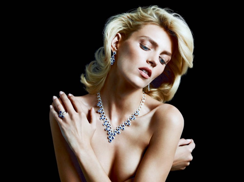 anja rubik apart diamond jewelry5 800x599 Anja Rubik Shines in the Apart Diamond Spring 2014 Campaign
