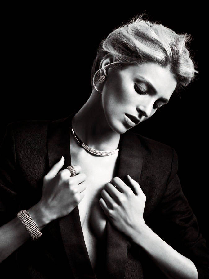 anja rubik apart diamond jewelry6 Anja Rubik Shines in the Apart Diamond Spring 2014 Campaign