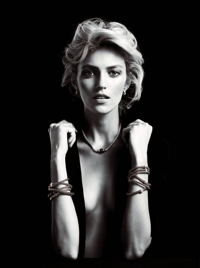 anja rubik apart diamond jewelry9 Anja Rubik Shines in the Apart Diamond Spring 2014 Campaign
