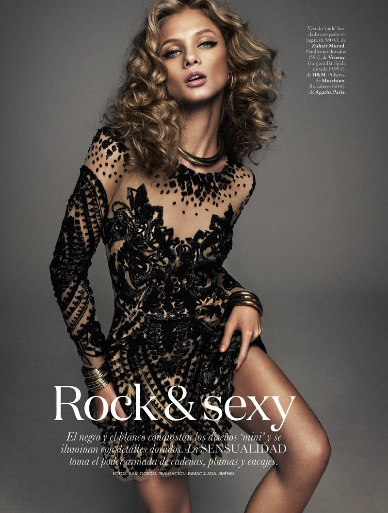 Anna Selezneva is Rock Glam for Elle Spain by Xavi Gordo