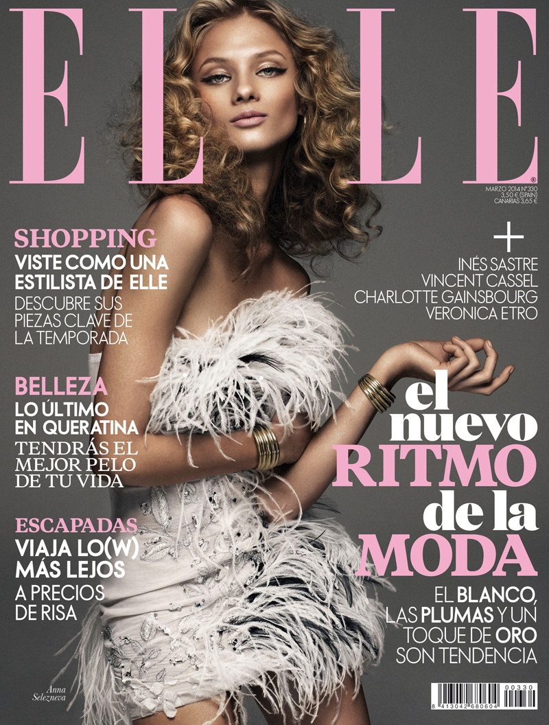 anna selezneva model11 Anna Selezneva is Rock Glam for Elle Spain by Xavi Gordo