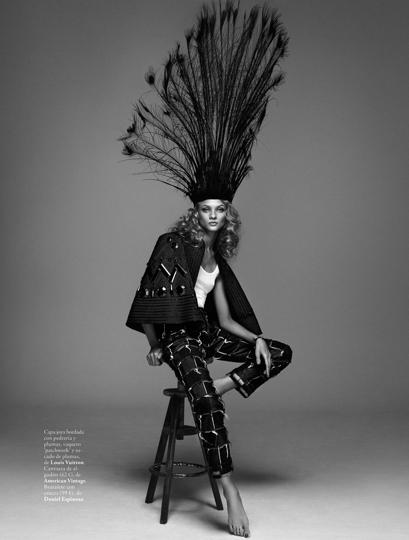 anna selezneva model2 Anna Selezneva is Rock Glam for Elle Spain by Xavi Gordo