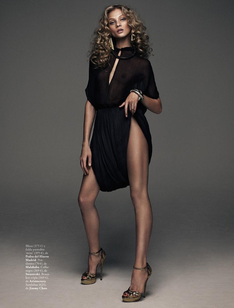 Anna Selezneva is Rock Glam for Elle Spain by Xavi Gordo