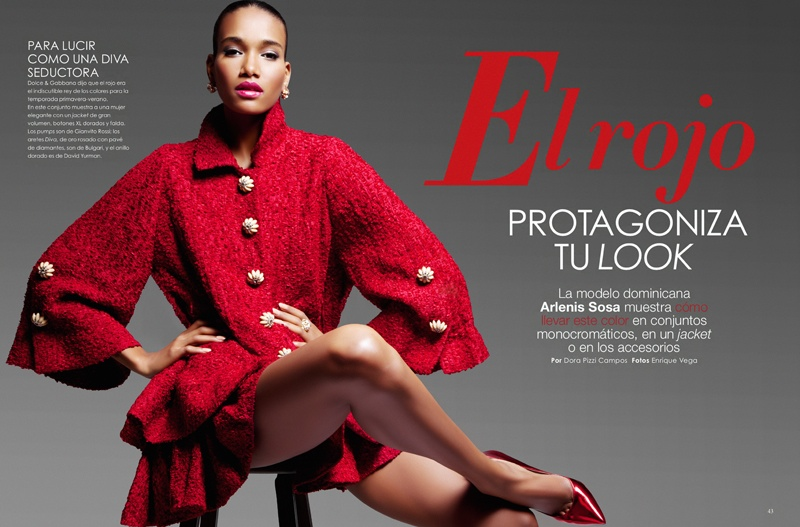 arlenis sosa pena model2 Arlenis Sosa is Red Hot in Vanidades Shoot by Enrique Vega