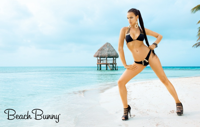 beach bunny signature irina shayk5 Irina Shayk is a Femme Fatale in New Beach Bunny Campaign