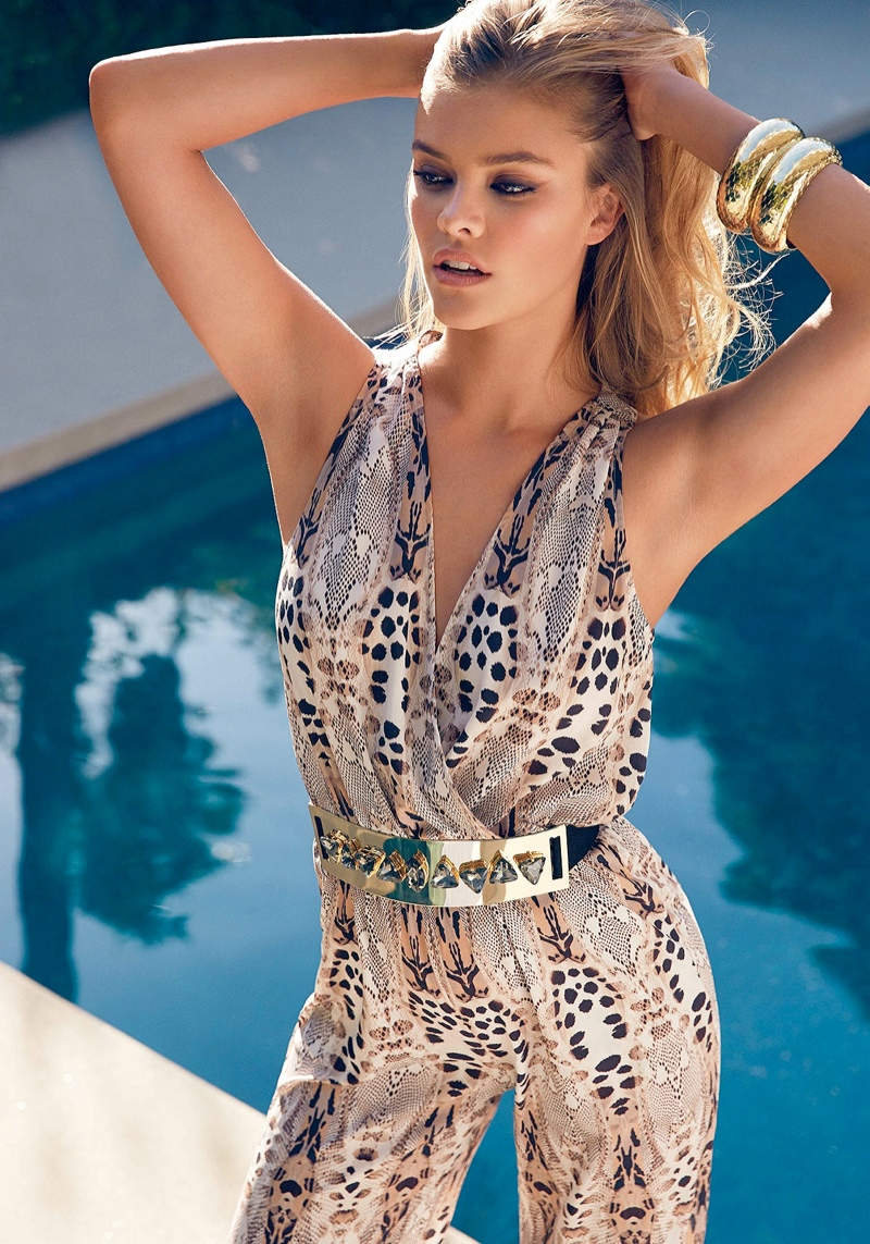 bebe destination miami5 Nina Agdal + Sara Sampaio Bring the Miami Heat in Bebe Spring 14 Shoot