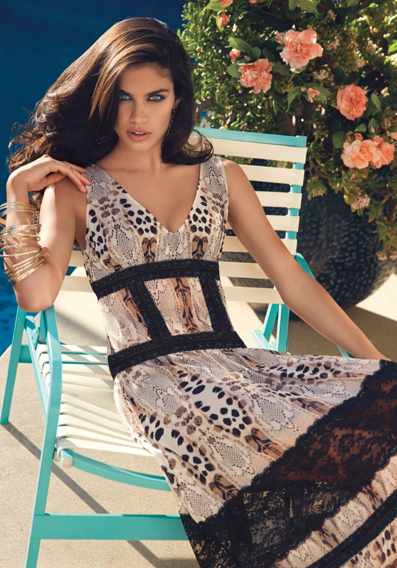 bebe destination miami7 Nina Agdal + Sara Sampaio Bring the Miami Heat in Bebe Spring 14 Shoot